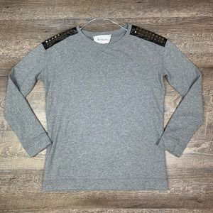 Two Vince Camuto Studded Pullover Sweatshirt XS